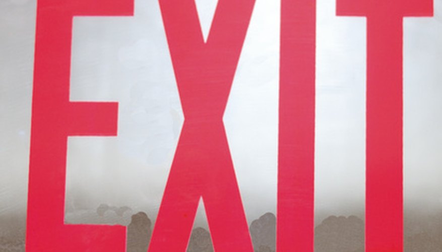Exit signs must be tested monthly to ensure they work properly