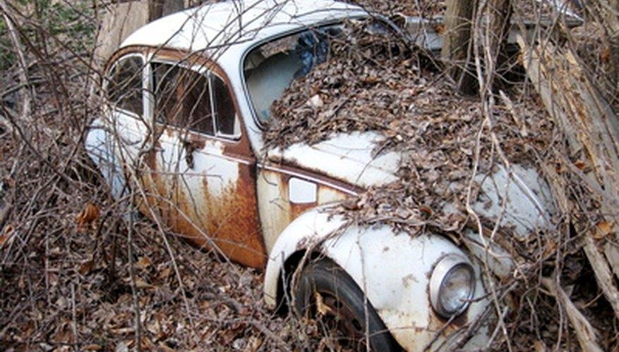 Un VW es un coche popular para proyectos de restauración.
