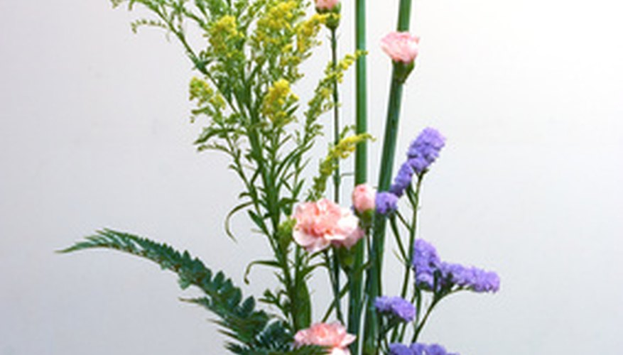 An ikebana flower arrangement.