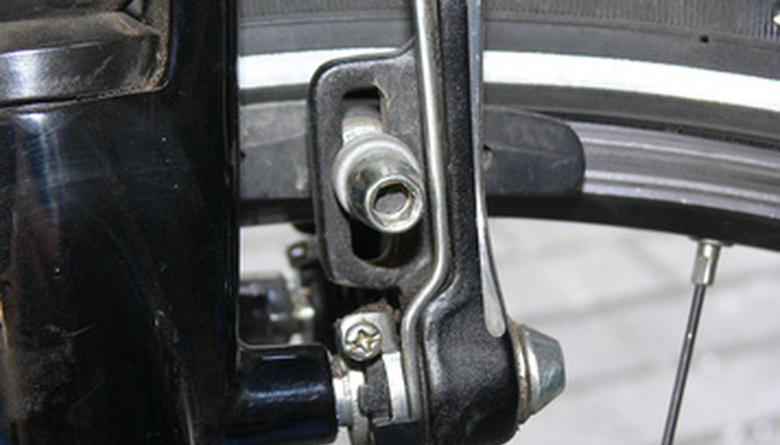 This bicycle brake absorbs a lot of energy in a fast stop.