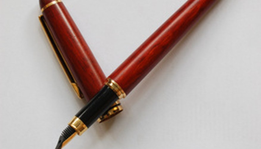 Montblanc fountain pens are highly sought by collectors.