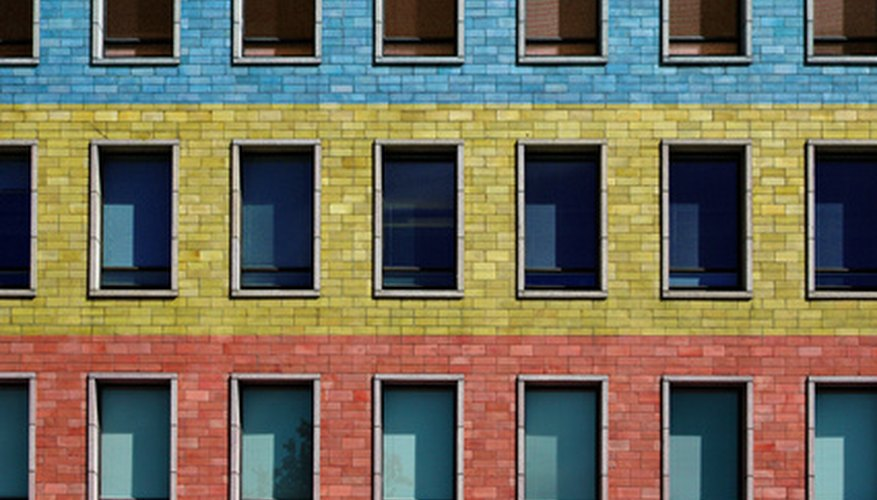 Use bright paint on bricks for a funky effect.