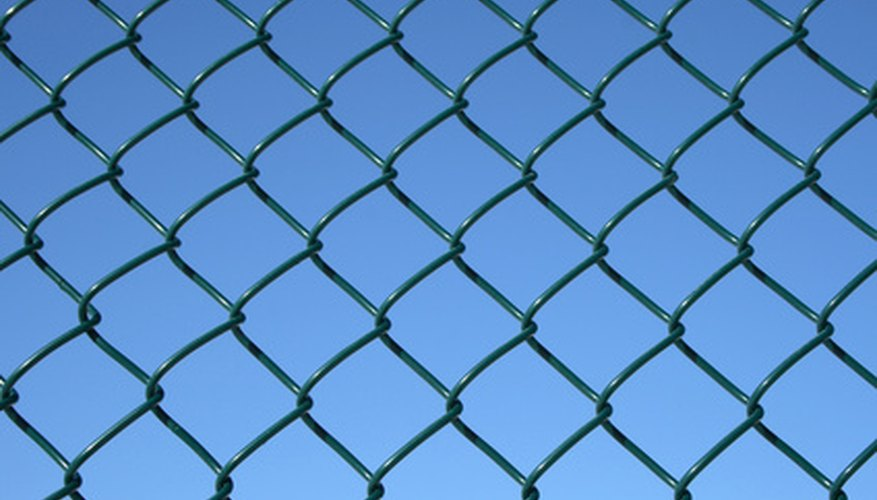 A scrap piece of chain link fencing can be used as a drag mat.