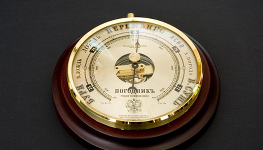 A barometer is a device which measures atmospheric pressure .