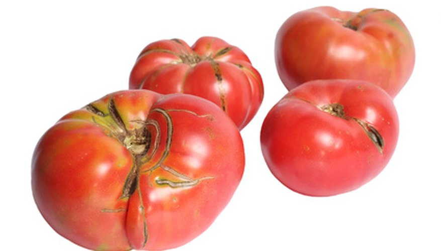 Heirloom tomatoes come in all sizes and shapes.