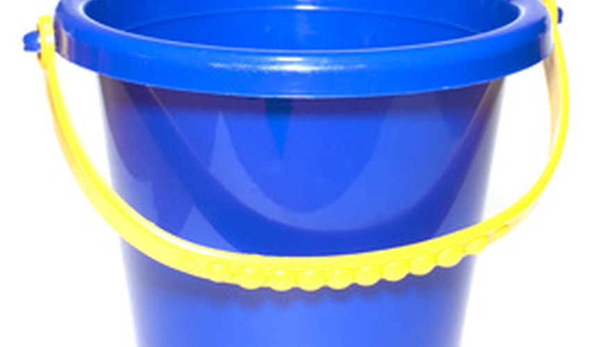 Never use a pail that has had cleaning solution in it; keep one especially for the garden.