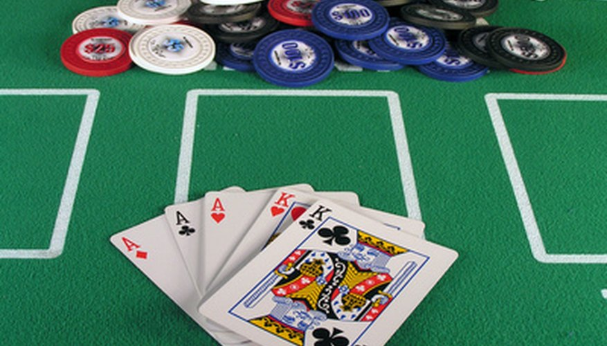 Entertain your friends at your homemade poker table.