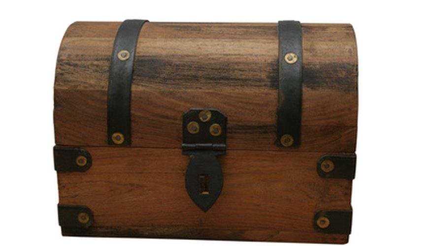 Un cofre pirata hecho a mano es un tesoro en si mismo.