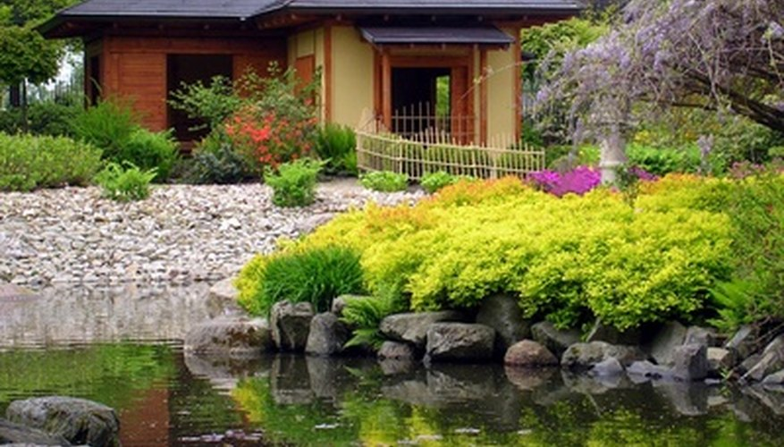 A Japanese tea garden enhances the landscape.