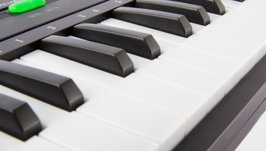 Electronic keyboards can mimic the sounds of acoustic keyboard instruments.