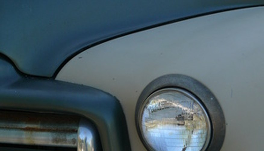 Check out the grille and tailgate for your first clues when identifying an old truck.
