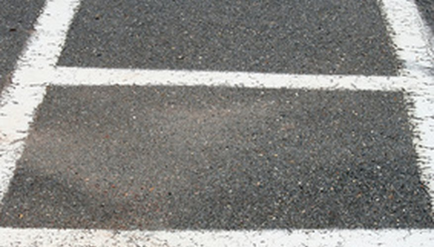You can also paint your crosswalk with wider spaces between lines.