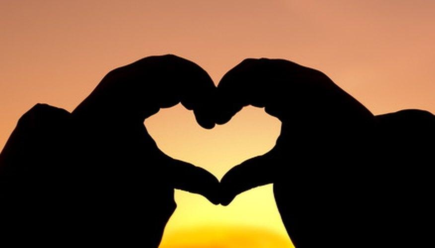 Tercera manera de formar un corazón.