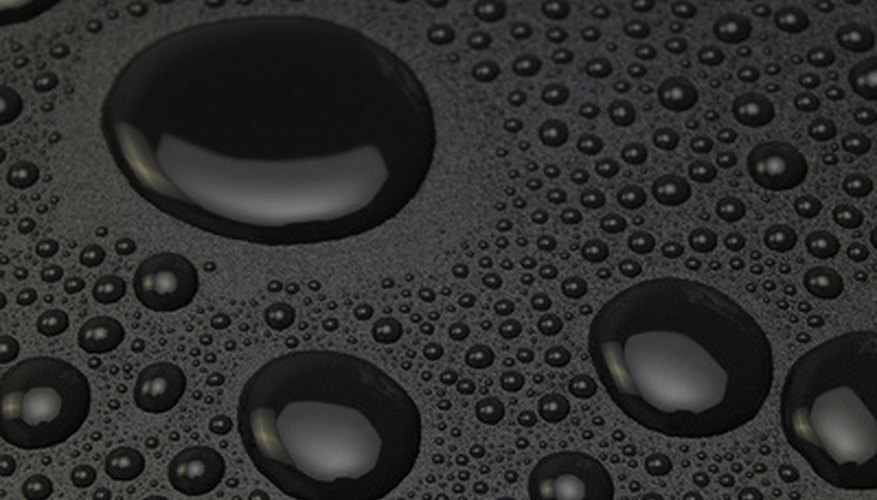Paint water drops on a car, leaf or other surface with basic art supplies.