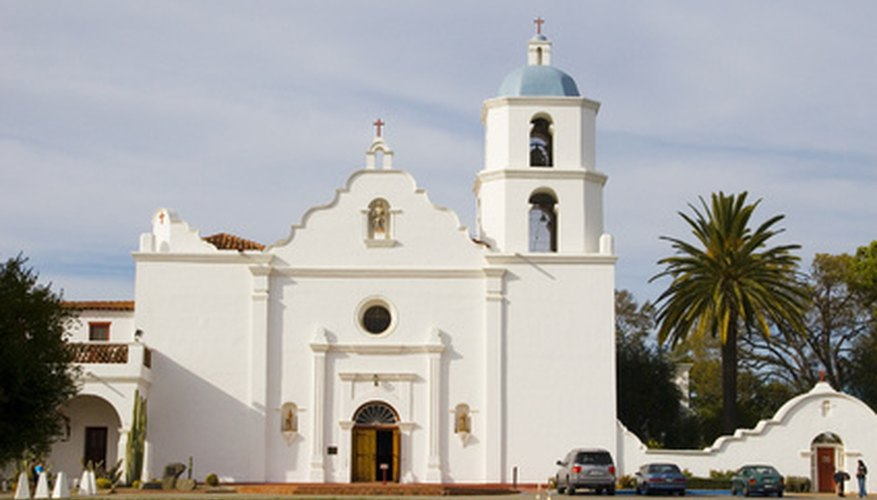 A Spanish mission church