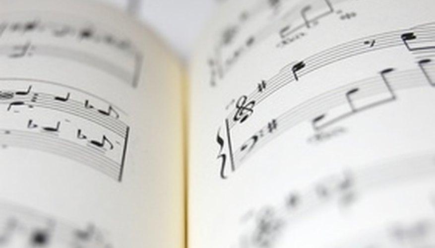 Parte de la música utiliza la subdivisión de las cuatro partes vocales principales.