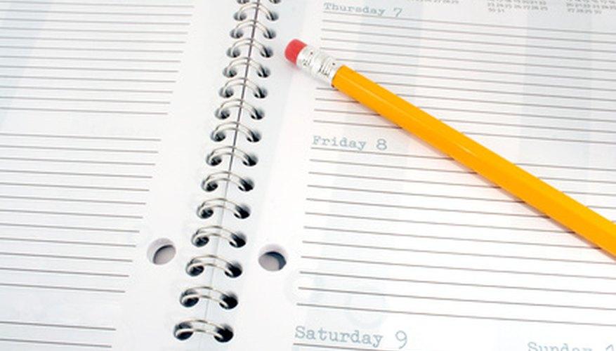 Utilizar un planeador te puede ayudar a ser más organizado.