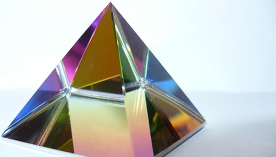 Prisms create colorful rainbows.