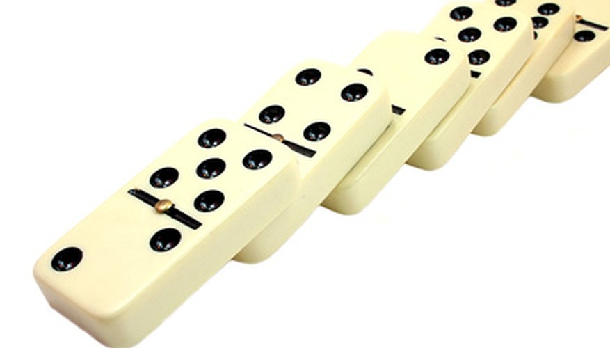 Dominoes can also be made of wood.
