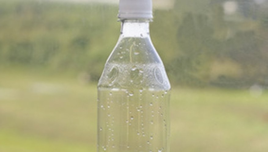Water bottles can be used in a variety of science experiments.
