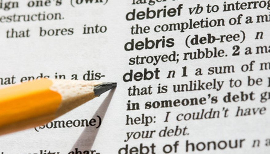 Debt can mess up the credit rating of a country as well as a person.