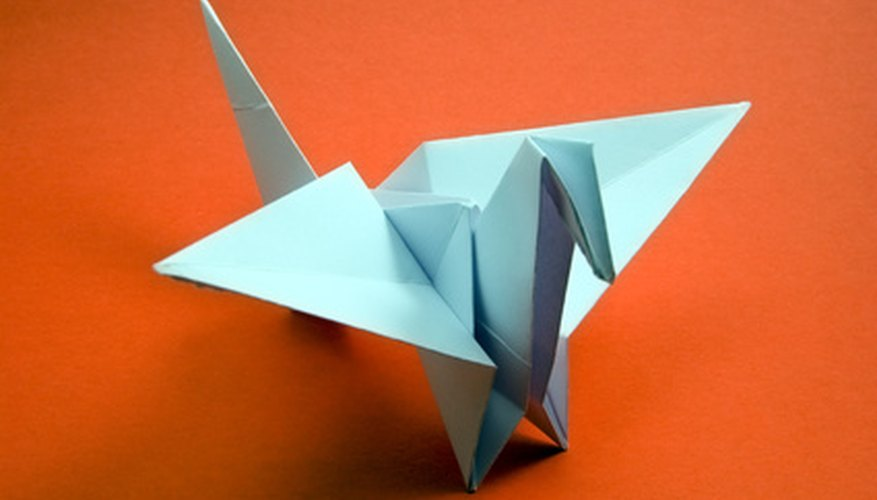 Grulla de origami.