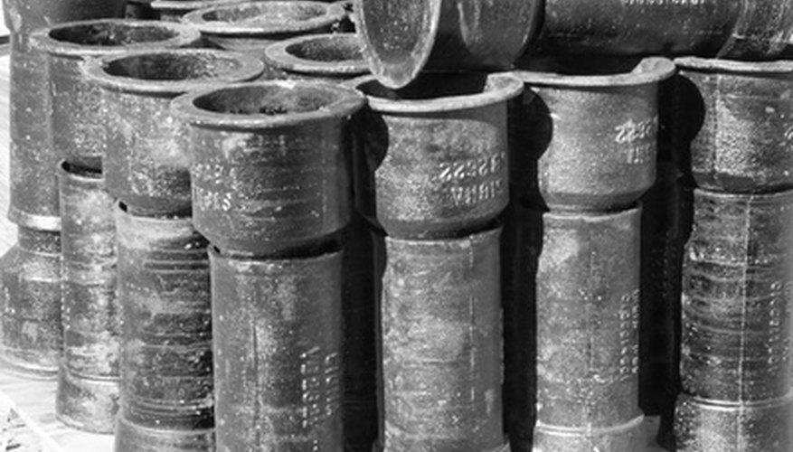 El hierro fundido gris se puede convertir en tuberías.