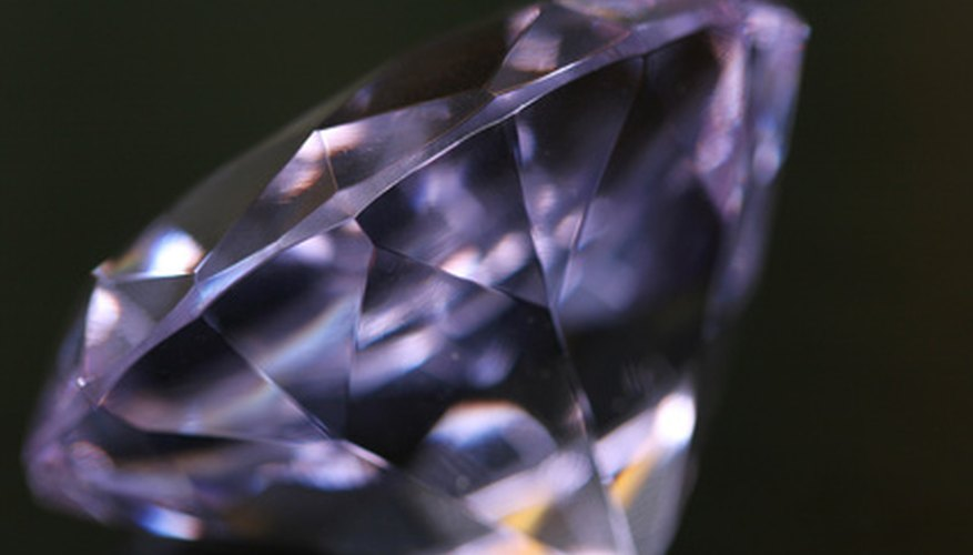 A raw diamond looks much different than one that's been cut and polished.