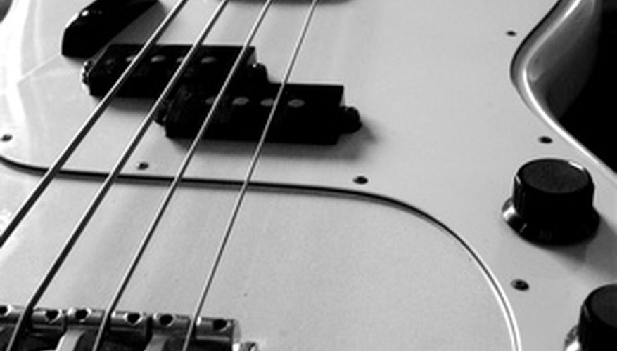 A Fender jazz bass