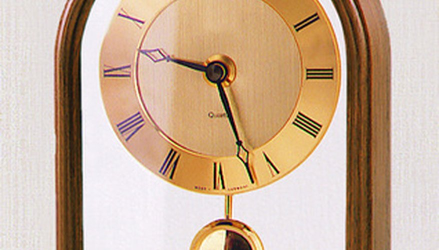 Synchronizing your pendulum clock may be a matter of setting the time.