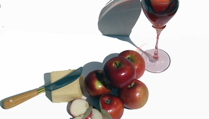 Apple wine pairs nicely with desserts or appetizers.