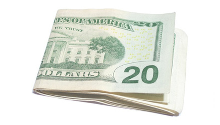 When folded properly, a $20 bill forms an interesting illusion.
