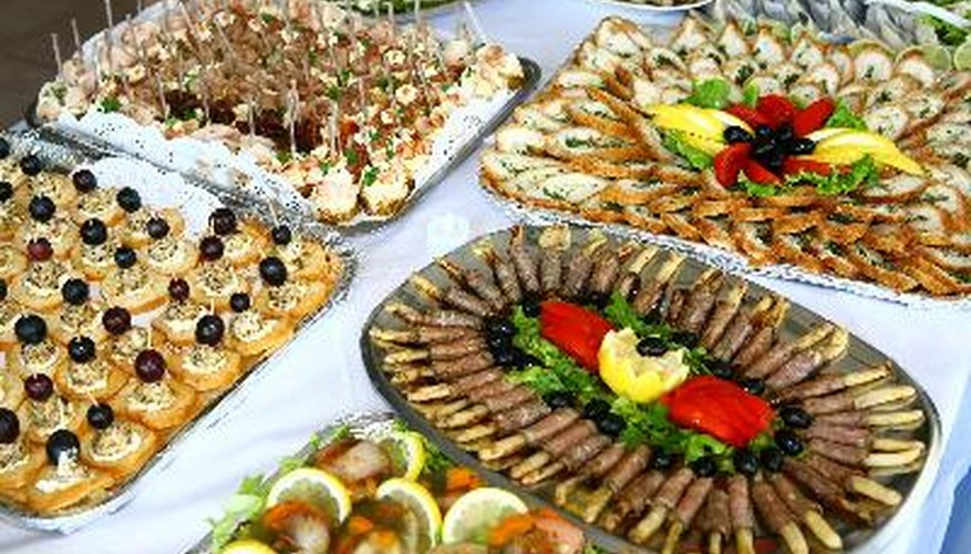 An at-home caterer must be able to prepare large quantities of quality food.