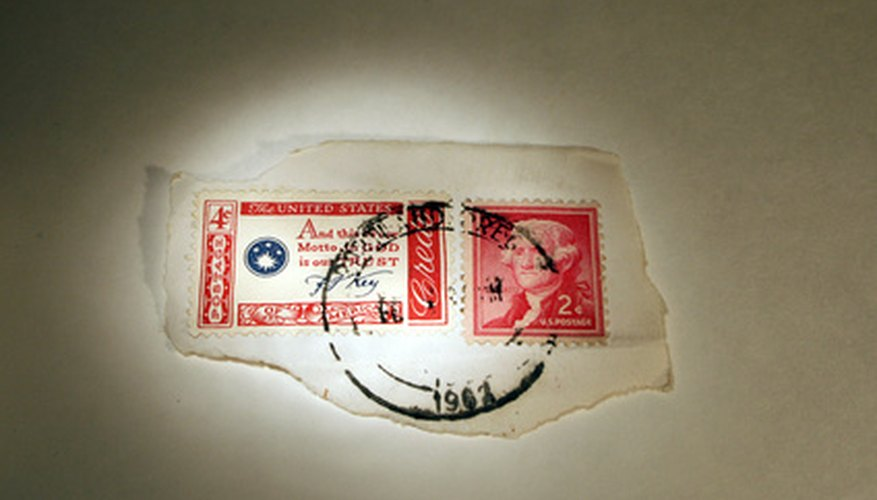 Many U.S. postage stamps carry special markings