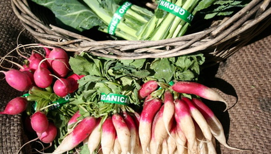 Radishes need rich, well drained soil.