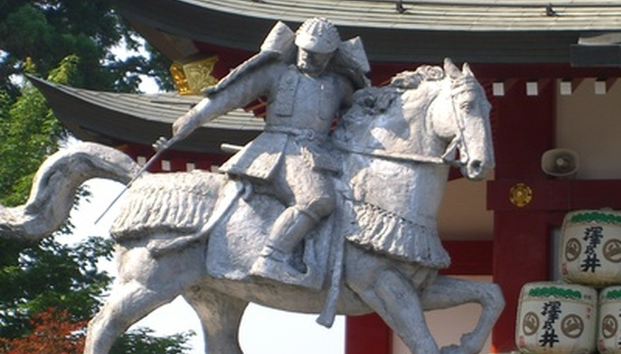 La armadura samurai tiene una apariencia distintiva.