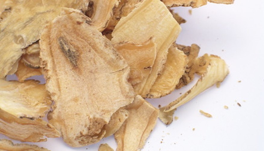 Ginseng root is used medicinally.