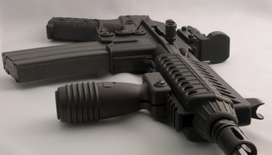 Las miras de punto rojo son populares entre los rifles semiautomáticos y pistolas.