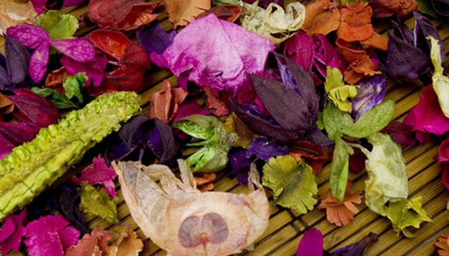 Preserve dried flowers with hairspray.