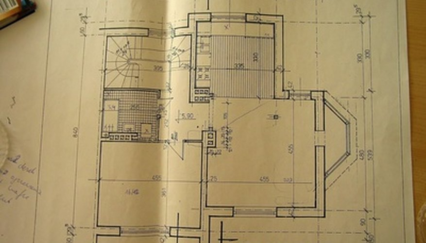 This detailed floor plan has one curved staircase in the top left corner of the image.