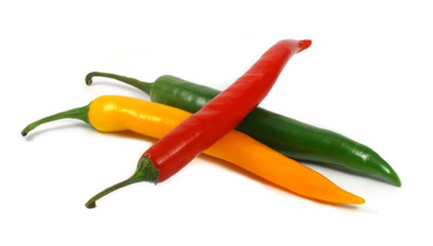 Hot and sweet peppers come in a rainbow of colors.