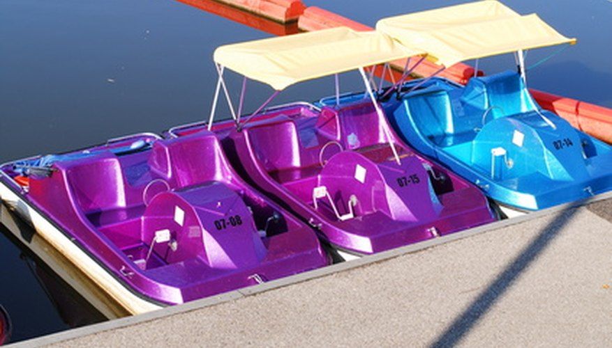 Paddle boats are popular at many  resorts.