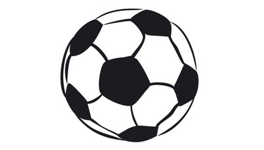Para crear un disfraz de pelota de fútbol de forma esférica, usa tela blanca con negro.
