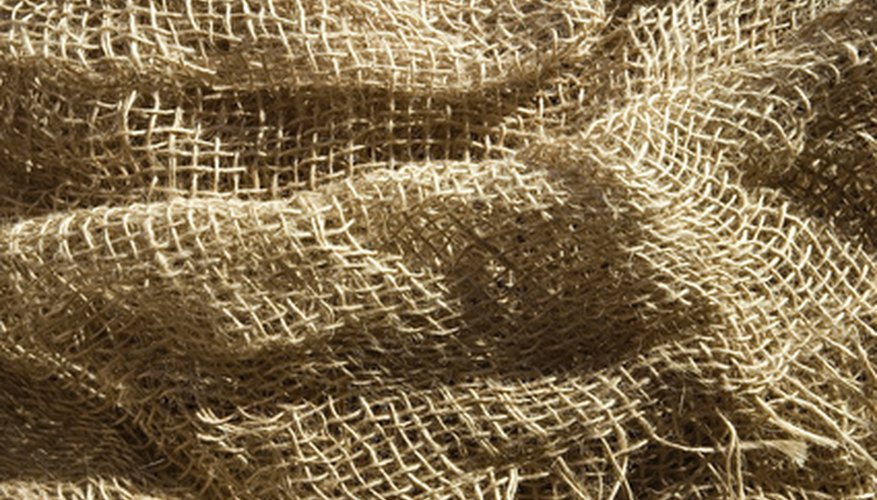 Burlap provides protection for newly-planted seeds.