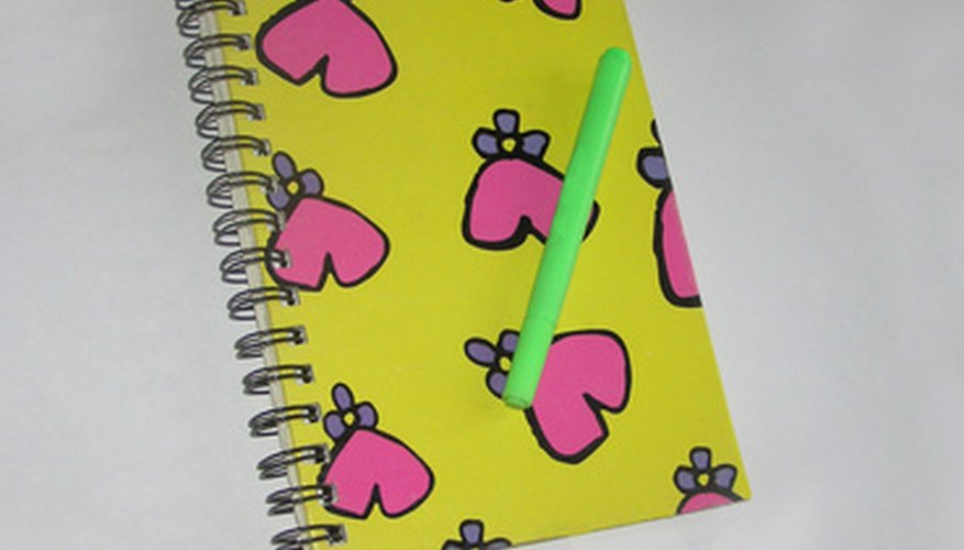 Novelty notebooks are designed to appeal to the consumer's every need.