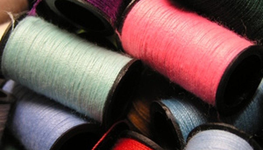 Choose thread appropriate to your project. For example, use quilting thread for quilting.