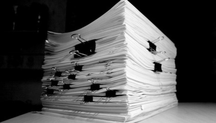 Stacks of time-sensitive paperwork may be better organized using the Tickler File System.
