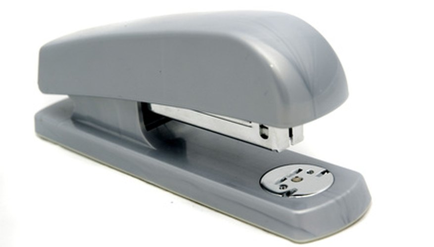 A stapler is a typical desk supply.
