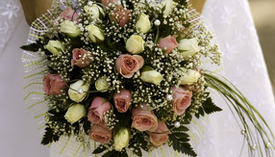 Roses are a popular choice for bridal bouquets.