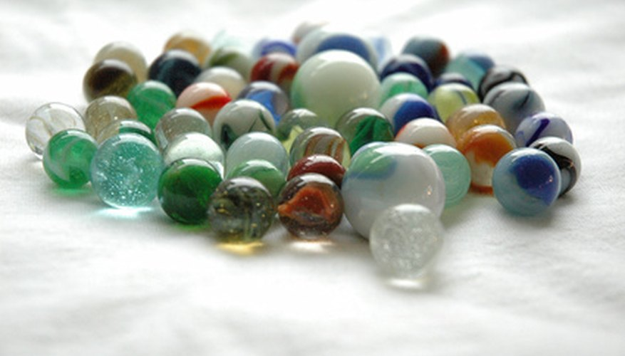 A collection of toy marbles.